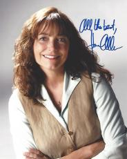 """KAREN ALLEN - Best Known for Playing MARION RAVENWOOD in """"RAIDERS of the LOST ARK"""", """"INDIANA JONES"""", and """"THE KINGDOM of the CRYSTAL SKULL"""" Signed 8x10 Color Photo"""