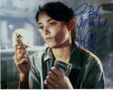 KAREN ALLEN HAND SIGNED 8x10 COLOR PHOTO+COA      RAIDERS OF LOST ARK     TO BOB