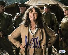 Karen Allen Signed Indiana Jones 8x10 Photo Authentic Autograph Psa/dna #p78972