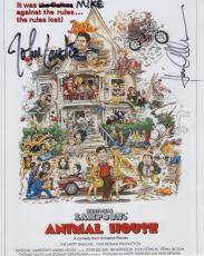 KAREN ALLEN+JOHN LANDIS HAND SIGNED 8x10 PHOTO+COA      ANIMAL HOUSE     TO MIKE