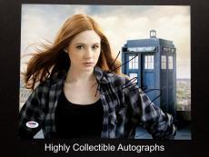 Karen Gillan Signed 11x14 Photo Autograph Doctor Who Psa Dna Coa