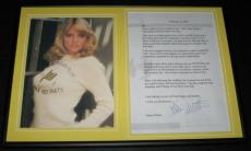 Karen Witter Signed Framed 2001 Letter & Photo Display NYPD Blue Dharma & Greg