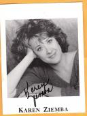 Karen Ziemba-signed photo-28 a
