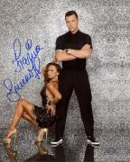 KARINA SMIRNOFF HAND SIGNED 8x10 COLOR PHOTO+COA    SEXY DANCING WITH STARS POSE