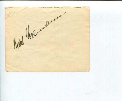 Karl Kamann Early Opera Singer Signed Autograph