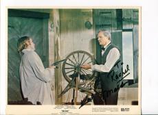 Karl Malden Blue Cowboy Western Oscar Winner Signed Autograph Photo
