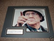 Karl Malden General Patton Signed 11x14  Photo Display