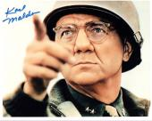 KARL MALDEN HAND SIGNED 8x10 COLOR PHOTO+COA      AMAZING POSE AS GENERAL PATTON