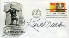 Karl Malden Signed Jsa Cert Sticker Fdc Authentic Autograph