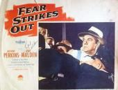 Karl Malden Signed Jsa Certed Fear Strikes Out Lobby Card Autograph Authentic