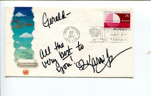 Karri Turner JAG X Files Heroes Signed Autograph FDC