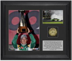 "Kasey Kahne 2012 Coca Cola 600 Race Winner 6"" x 5"" Photo with Plate & Gold Coin - Limited Edition of 305 - Mounted Memories"