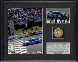 Kasey Kahne 2013 GoBowling.com 400 Race Winner Framed 2-Photograph Collage with Gold-Plated Coin - Mounted Memories