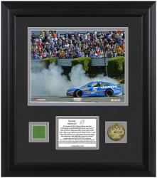 "Kasey Kahne 2013 GoBowling.com 400 Framed 8"" x 10"" Photograph with Gold Coin & Race-Used Flag"