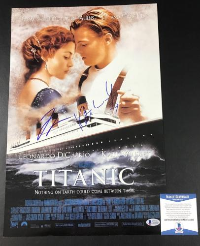 Kate Winslet Leonardo Dicaprio Titanic Signed 12x18 Photo Authentic Auto Beckett