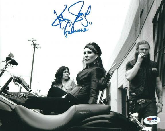 "Katey Sagal Signed 'Sons Of Anarchy' 8x10 Photo ""Gemma"" PSA 5A40085"