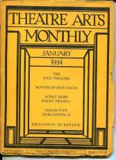 Katharine Hepburn Basil Rathbone Jan 1934 Theatre Arts Monthly Magazine