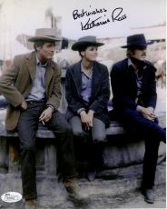 KATHARINE ROSS HAND SIGNED 8x10 COLOR PHOTO     WITH PAUL NEWMAN+REDFORD     JSA
