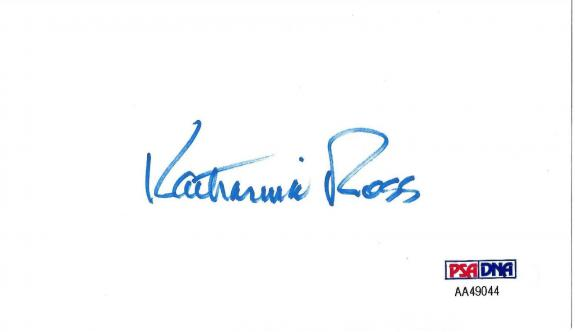 Katharine Ross Signed 3x5 Index Card PSA/DNA Butch Cassidy and The Sundance Kid