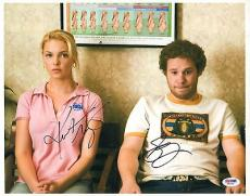 Katherine Heigl & Seth Rogen Signed 11x14 Photo PSA/DNA COA Knocked Up Autograph