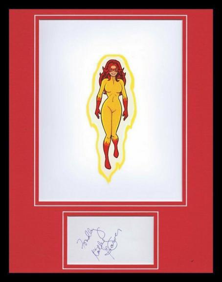 Kathy Garver Signed Framed Photo Display Spiderman & Amazing Friends Firestar