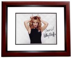 Kathy Griffin Signed - Autographed My Life on the D-List Comedian 8x10 Photo with SUCK IT Inscription MAHOGANY CUSTOM FRAME