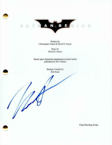 Katie Holmes Signed Autograph - Batman Begins Full Movie Script - Christian Bale