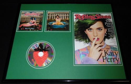 Katy Perry 16x20 Framed 2014 Rolling Stone Magazine & One of the Boys CD Display