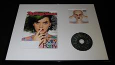 Katy Perry 16x20 Framed Witness CD & 2014 Rolling Stone Cover Display