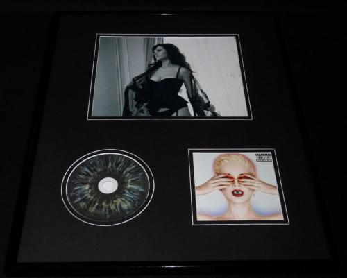 Katy Perry Framed 16x20 Witness CD & Lingerie Stockings Photo Display