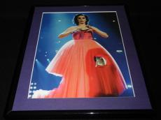 Katy Perry in concert with mouse Framed 11x14 Photo Display