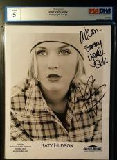 Katy Perry Signed AUTHENTIC AUTOGRAPH Photo PSA/DNA Certified Katy Hudson