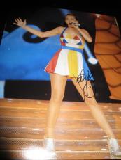 Katy Perry Signed Photo - 11x14 SUPERBOWL CONCERT SHOT COA NY X8