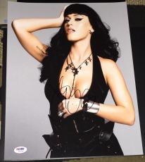 Katy Perry Signed Autograph Busty Seductive Leather 11x14 Photo Psa/dna W55699