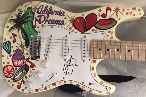 Katy Perry Signed Autograph Custom Painted Amazing Electric Guitar 1/1 Beckett