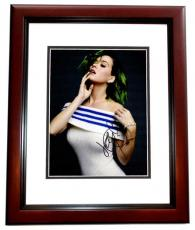 Katy Perry Signed - Autographed Sexy Pop Singer 8x10 inch Photo - MAHOGANY CUSTOM FRAME - American Idol Judge - Guaranteed to pass PSA or JSA