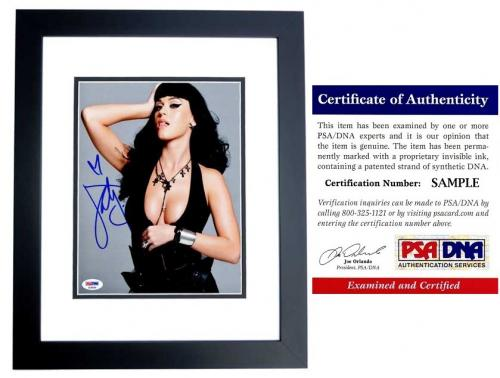 Katy Perry Signed - Autographed Sexy Pop Singer - Songwriter 8x10 inch Photo BLACK CUSTOM FRAME - PSA/DNA Certificate of Authenticity (COA)