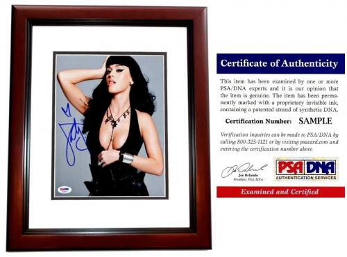 Katy Perry Signed - Autographed Sexy Pop Singer - Songwriter 8x10 inch Photo MAHOGANY CUSTOM FRAME - PSA/DNA Certificate of Authenticity (COA)