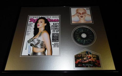 Katy Perry Signed Framed 16x20 Rolling Stone & Witness CD Display