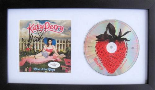 Katy Perry Signed One Of The Boys Cd Framed JSA