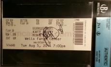 Katy Perry Signed Ticket Stub Autographed AUTHENTIC JSA/BGS Katy Hudson