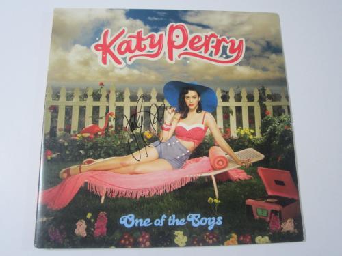 katy perry signed vinyl ONE OF THE BOYS RECORD ALBUM JSA COA