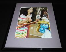 Katy Perry & Smurfette The Smurfs Framed 11x14 Photo Display