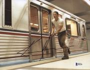 """Keanu Reeves Autographed 8"""" x 10"""" Speed In Subway Station Photograph - Beckett COA"""