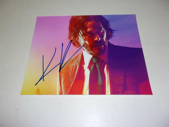Keanu Reeves John Wick,matrix Actor W/holo Signed 8x10 Photo