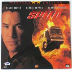 Keanu Reeves Signed Authentic Autographed Speed Laser Disc Cover PSA/DNA #Q33552