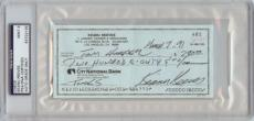Keanu Reeves Signed Check (1991) (Graded PSA/DNA 9)