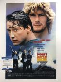 KEANU REEVES SIGNED POINT BREAK 12x18 MOVIE POSTER PHOTO BECKETT COA #C55533