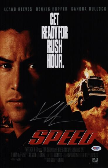Keanu Reeves Signed Speed 11x17 Movie Poster Psa Coa Ad48216