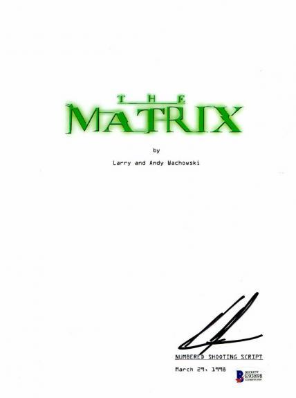 Keanu Reeves Signed 'the Matrix' Full Script Screenplay Authentic Auto Beckett 4